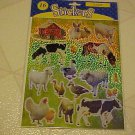 Stickers New Sticker Sheet Shimmery Hologram Laser Farm Animals Cow Pig Horse