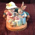 Girl Rabbit Figurine Avon Cherished Moments Porcelain Tea Party Bunny Easter