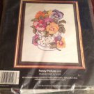 "Golden Bee Stamped Cross Stitch Kit Pansy Picture #20103 16""x20"" Unopened"