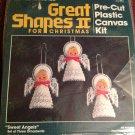 "Bucilla Sweet Angels Christmas Ornament Kit #61000 4-1/2"" Tall New Needlework"
