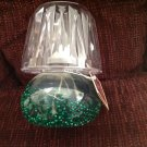 Miniature Oil Lantern Lamp Light Farms Plastic Green Beads Shade Petite X-mas