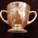 Sugar Bowl Fire King Vintage Peach Lustre Laurel Made in USA Depression Glass