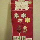 New Wilton Candy Mold Set Christmas Santa Claus Snowflakes Molds Cookies Treats
