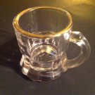 Shotglass Mug Shape Gold Gilt Rim Clear Shot Glass Barware Liquor Shots
