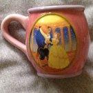 Coffee Tea Mug Disney Princess Beauty & the Beast Belle Porcelain Pink 7 oz