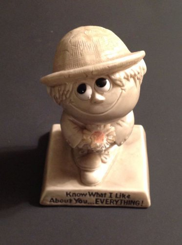Vintage Russ Berrie Figure Know What I Like About You Figurine Statue WR Berries