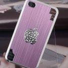 Elegant Pink Bling Diamond Hard Skin Cover Case for iPhone4 4 4G 4S + Free Gift