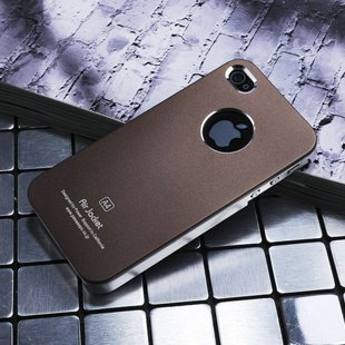 Air Jacket iPhone 4 4 S ultra-thin metal grind arenaceous case apple mobile phone cases coffee