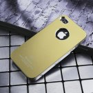 Air Jacket iPhone 4 4 S ultra-thin metal grind arenaceous case apple mobile phone cases Dark yellow