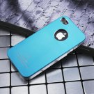 Air Jacket iPhone 4 4 S ultra-thin metal grind arenaceous case apple mobile phone cases Shallow blue