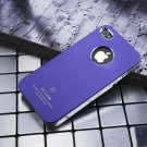 Air Jacket iPhone 4 4 S ultra-thin metal grind arenaceous apple mobile phone cases Shallow purple