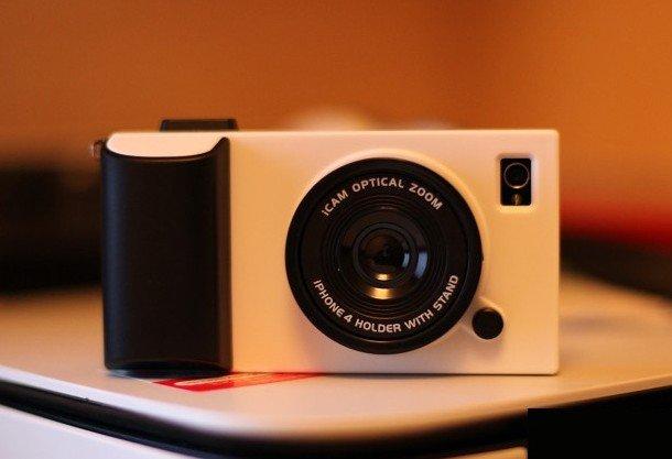 Icamera camera phone iphone4S joke Case Cover parts apple 4 phone sets white