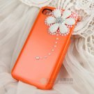 iphone4s diamond drill following Case Cover apple mobile phone sets cover orange