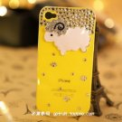 iphone4S diamond drill following Case Cover little sheep shell apple 4 phone sets protection yellow