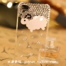 iphone4S diamond drill following Cover little sheep shell apple 4 phone sets protection transparent