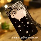 iphone4S diamond drill following Case Cover little sheep shell apple 4 phone sets protection black