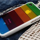 Rainbow Case Cover LIMS iphone 4 S Case Cover four generations of silica gel cell phone accessories