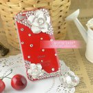 Apple and HTC 4 iphone4 camellia phone sets following glass Case Cover 4 s red