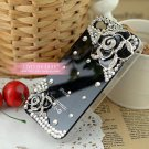 Apple and HTC 4 iphone4 camellia phone sets following glass Case Cover 4 s black