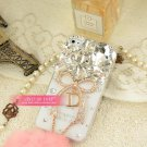 Apple 4 generation iphone4 bowknot gem phone sets following Case Cover diamond 4 s