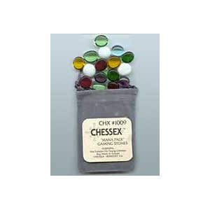 Chessex Gaming Stones Counter: Glass Stones: Mana Pack [Ships free]