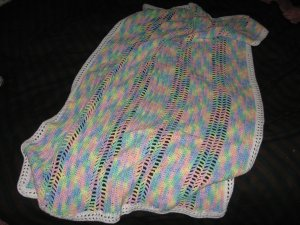 Pompador Cotton Candy baby blanket