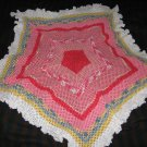 Star Shades of pink thread baby blanket
