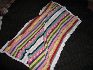 Striped thread baby blanket