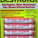 Giant Destroyer Smoke Bombs (48 Pack) Kills Gophers Moles Rats Skunks Squirrels
