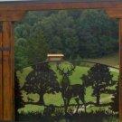 Whitetail Deer Single Swing Driveway Entrance Gate