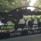 Driveway Gate   Deer In a Field   Plasma Cut Silhouette by JDR Metal Art