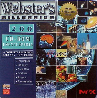 Webster's 2002 Millennium Encyclopedia CD-ROM - XP Compatible NEW - FREE Shipping