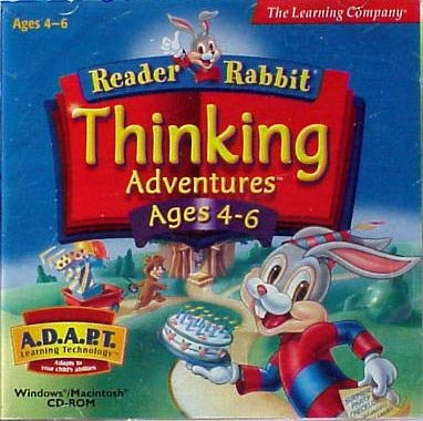 reader rabbit thinking adventures by the learning company