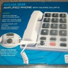 NEW Clear Hear Hearing Aid Amplified Phone Big Button Memory Talking Caller ID