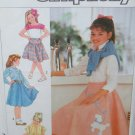 Vintage Simplicity 7878~Girls Skirts in Three Lengths~Sizes 10, 12 & 14