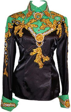 Black, Green, and Gold Show Shirt