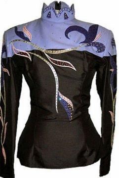 Black and Lavender Show Shirt