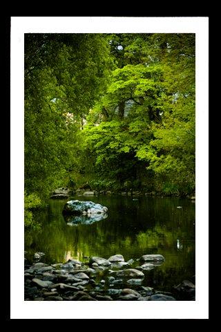 A4 Framed Landscape Print - The River Greta In Keswick