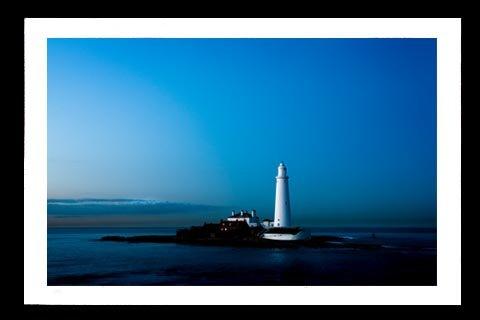 A4 Framed Landscape Print - St. Marys Island