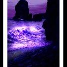A4 Framed Landscape Print - Purple Wave