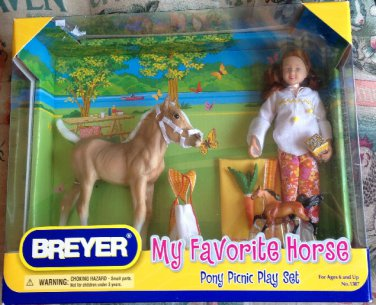 Breyer My Favorite Horse Pony Picnic Play Set #1387