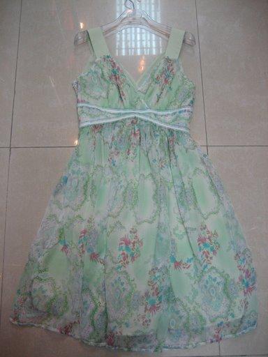 BCBG Silk Summer V-Neck Dress