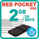 Redpocket USA MiFi Device + 2GB + 3G SIM Card