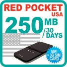 Redpocket USA MiFi Device + 250MB + 3G SIM Card