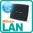 LAN + 3G SIM Card + US$100 Credit