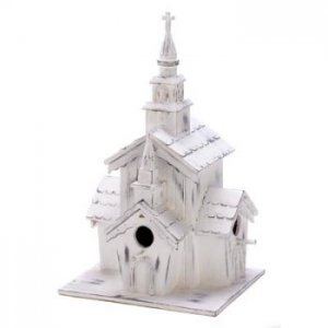 14778 - NEW> Little White Chapel Birdhouse