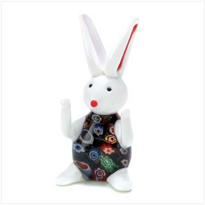 12678 - Art Glass Rabbit Figurine - EASTER SPECIAL