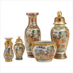 39567 - Asian Palace Vase Ensemble