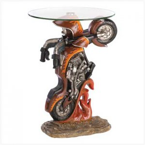 39588 ~ Motorcycle Accent Table