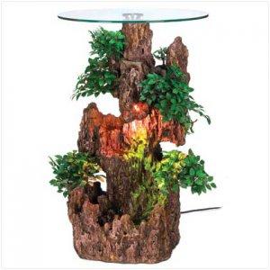 13086 ~ Bonsai Fountain Accent Table